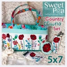 Sweet Pea Country Flowers CD embroidery designs