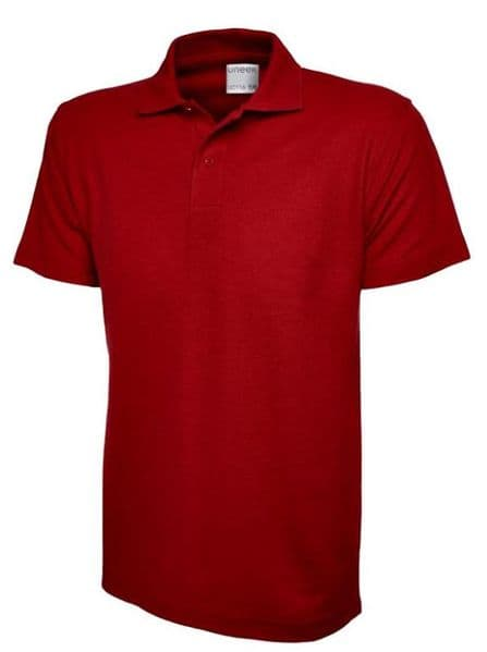 UC116 Child Red polo shirt