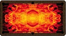 HALF PRICE ARTSCAPE POOL TABLE SPEED CLOTH FIRE FLAME ART SCAPE for 6ft or 7ft - 281455793244
