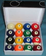 "New 1 7/8"" 47.5m American Kelly Spots & stripe Pool table Balls.Limited quantity - 371415704975"