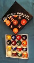 """New 2 1/4""""(57mm) Competition American Spots & Stripes Pool table Balls.Clearance"""