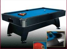 "NEW BCE 7' X 4' ""BLACK CAT"" DE LUXE AMERICAN POOL TABLE HPT1-7 CUES BALL RETURN"