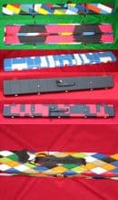 Rosetta Limited Edition Patchwork Leather Pool Snooker 3/4 cue case.Extra wide