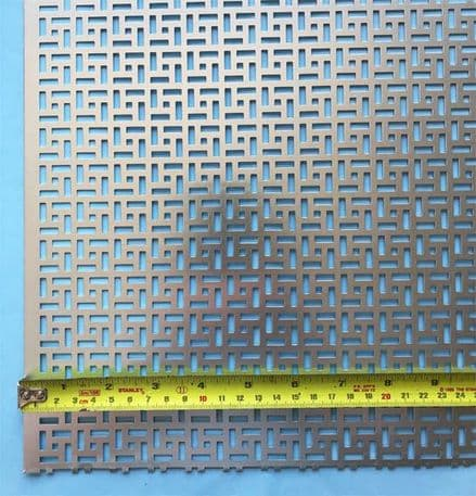 oriental maidstone grille anodised silver finish perforated screening panel