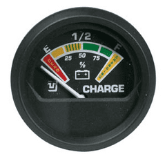 BATTERY CHARGE INDICATOR GAUGE BLACK or WHITE