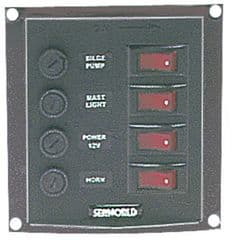 Four switches vertical panel