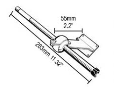 TRANSOM S/S STEERING CABLE SUPPORT SMALL