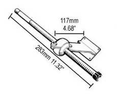 TRANSOM STEERING CABLE SUPPORT S61