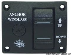Windlass control panel with toggle switch