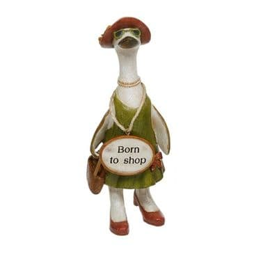 Glam Girl Duck Ornament Shabby Chic - BORN TO SHOP