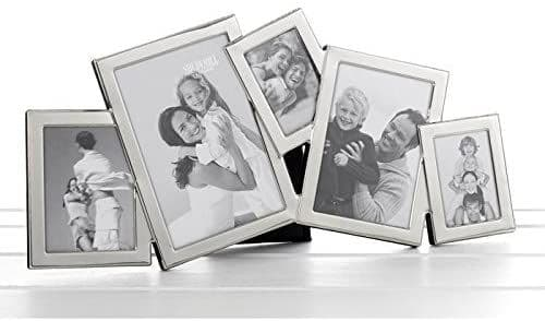 Satin Silver Overlap Multi Photo Collage for 5 Pictures