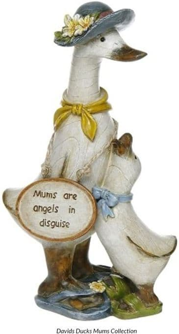 Special Mum Duck Ornament - MUMS ARE ANGELS IN DISGUISE