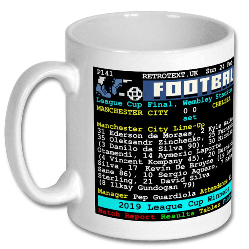 2019 League Cup Winners MANCHESTER CITY