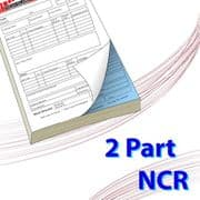 A4 (210mm x 297mm) 2 Part NCR Book