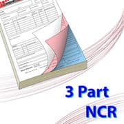 A6 (105mm x 148mm) 3 Part NCR Book