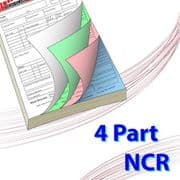 A6 (105mm x 148mm) 4 Part NCR Book