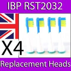 IBP REPLACEMENT TOOTHBRUSH HEADS FOR ULTRASONIC MODEL RST2032 x 4