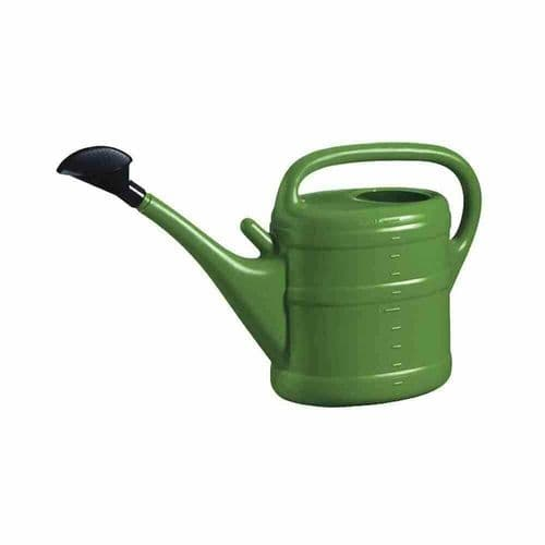 10 Litre Sturdy Eco Friendly Large Green Plastic Watering Can with Rose