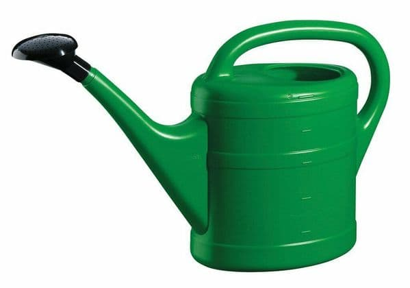 5 Litre Sturdy Eco Friendly Green Plastic Lightweight Watering Can with Rose