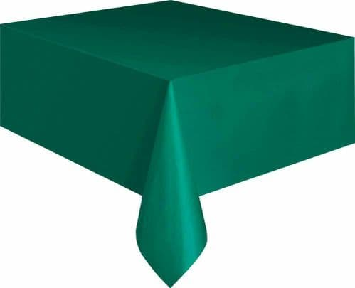 Christmas Party Ideas - Green 9 x 4.5 ft (2.74m x 1.37m) Plastic Tablecloth