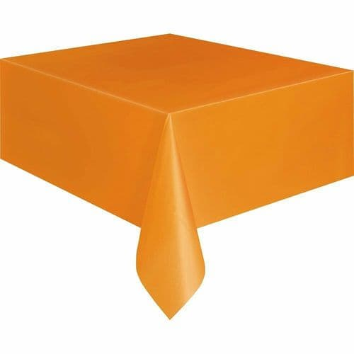 Halloween Party Ideas Orange 9ft x 4.5ft (2.74m) Plastic Tablecloth Table Cover