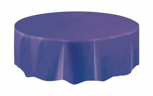 Halloween Party Ideas - Purple 7ft (2.13m) Round Plastic Tablecloth Table Cover