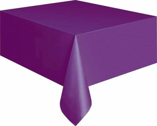 Halloween Party Ideas Purple 9ft x 4.5ft (2.74m) Plastic Tablecloth Table Cover