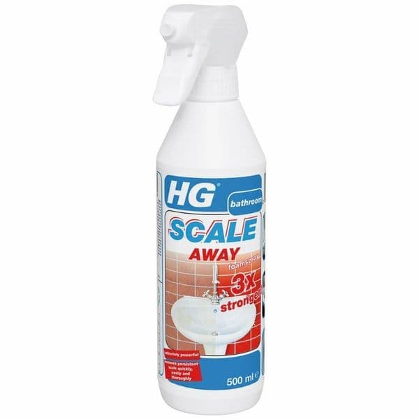 HG Scale Away Foam Spray 3x Stronger Sink Basin Toilet Shower Limescale Remover
