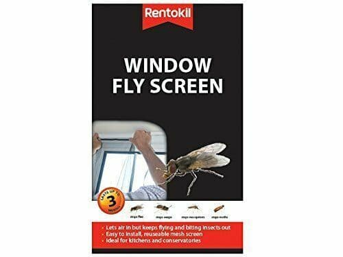 Insect Bug Fly Moth Mosquito Protection Window Mesh Netting and Fastener Black