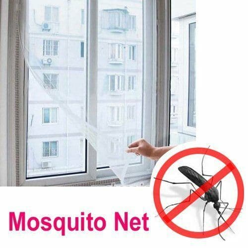 Insect Bug Fly Moth Mosquito Protection Window Mesh Netting and Fastener White