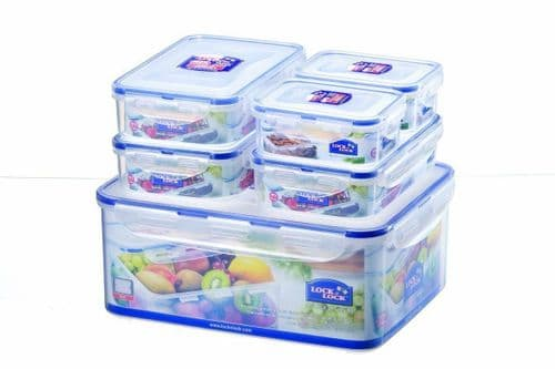 Lock & Lock - Lock and Lock Plastic Food Storage Containers Boxes Set 6 Piece