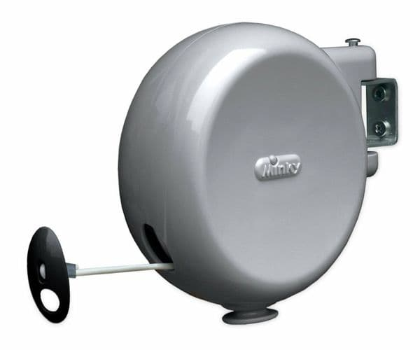 Minky Retractable 15m Outdoor Wall Mounted Washing Line Clothes Line Clothesline