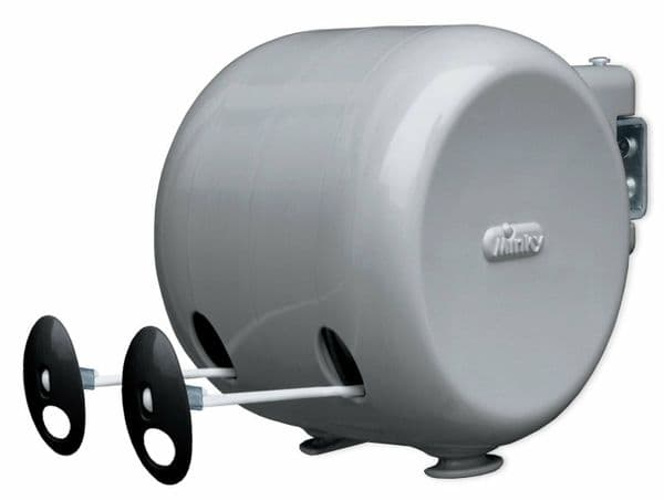 Minky Retractable 30m Outdoor Wall Mounted Washing Line Clothes Line Clothesline