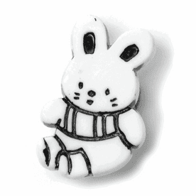 Bunny Shank Button - 21mm - White