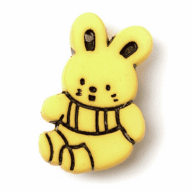 Bunny Shank Buttons - 21mm - Yellow