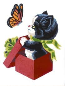 Collection D Art: Tapestry Kit: Kitten and Butterfly: 14 x 18cm