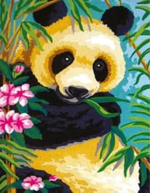 Collection D Art: Tapestry Kit: Panda: 22 x 30cm