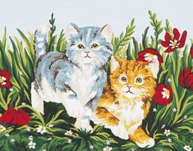 Collection D Art: Tapestry Kit: Playful Kittens: 20 x 30cm