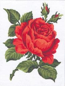 Collection D Art: Tapestry Kit: Red Rose: 14 x 18cm