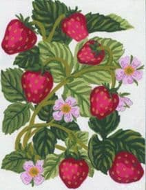 Collection D Art: Tapestry Kit: Strawberries: 14 x 18cm