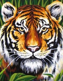 Collection D Art: Tapestry Kit: Tiger: 19 x 19cm