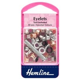 Eyelets with Tool - Assorted - 5.5mm