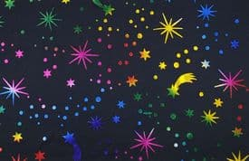 Halloween Fabric - Rainbow Foil by the metre