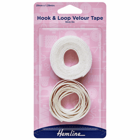 Hook & Loop Tape: Stick-On: Value Pack: 1.25m x 20mm: White