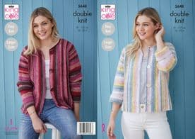 King Cole Bramble DK Ladies Cardigans Pattern 5648