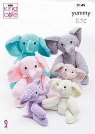 King Cole Elephant Pattern Knitted in Yummy 9149