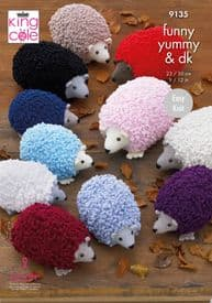 King Cole Hedgehogs: Knitted in Funny Yummy 9135
