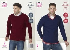 King Cole Mens Sweaters Knitted in Big Value DK 50g 5259
