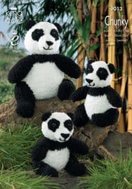 King Cole Panda Toys Knitted with Cuddles Chunky 9013