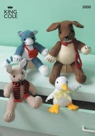 King Cole Toys Knitted in Various King Cole DK 3000